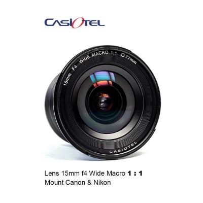 Lensa Casiotel 15mm f/4.0 Wide Macro 1:1