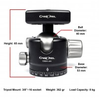 Casiotel CBH-40 Ballhead - No Clamp